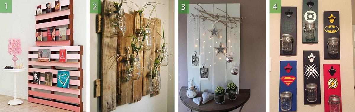 Increibles Ideas De Decoracion Artesanal Diy Con Palets De Madera - Ideas-decoracion-con-palets