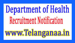 Department of HealthGovernment of Haryana Recruitment Notification 2017