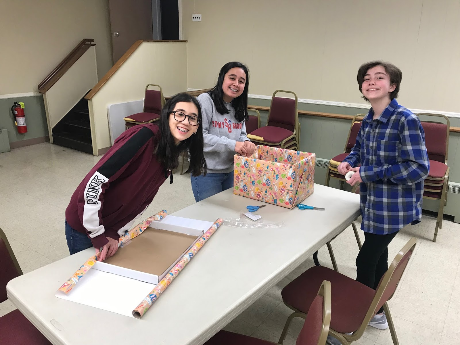 North Bellmore Public Library Our Young Adults Creating Birthday Boxes