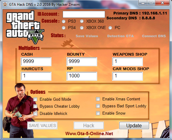 GTA 5 Online DNS Codes, Unlimited Money, Max RP Rank is Back