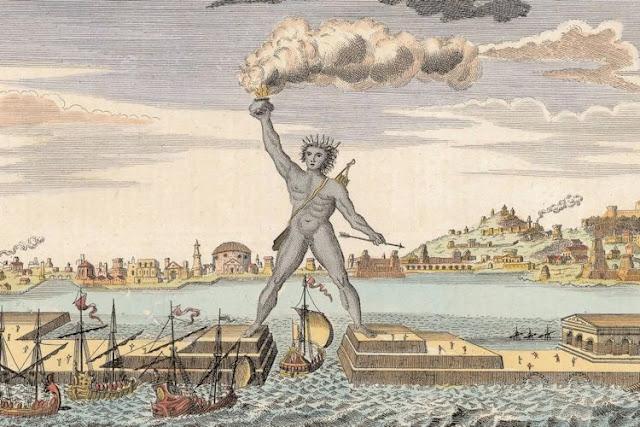 Imagem ilustrativa do Colosso de Rodes retirada do site http://www.jornalissimo.com