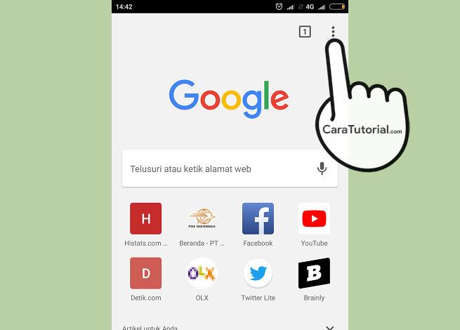 Cara Menghapus History Browsing Google Chrome Android
