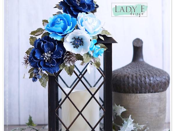Foamiran Flowers in Shades of Blue