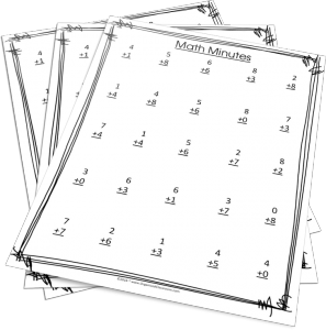 Want FREE Math Minutes worksheets?