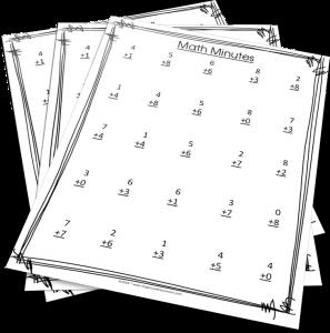 Want FREE Math Minutes worksheets?