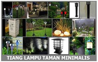 Model lampu taman minimalis