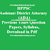 HPPSC Assistant District Attorney (ADA) Previous Years Question Papers, Answer Key, Syllabus 2018 Download in Pdf