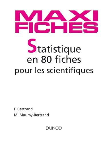 Maxi fiches de Statistique pour les scientifiques