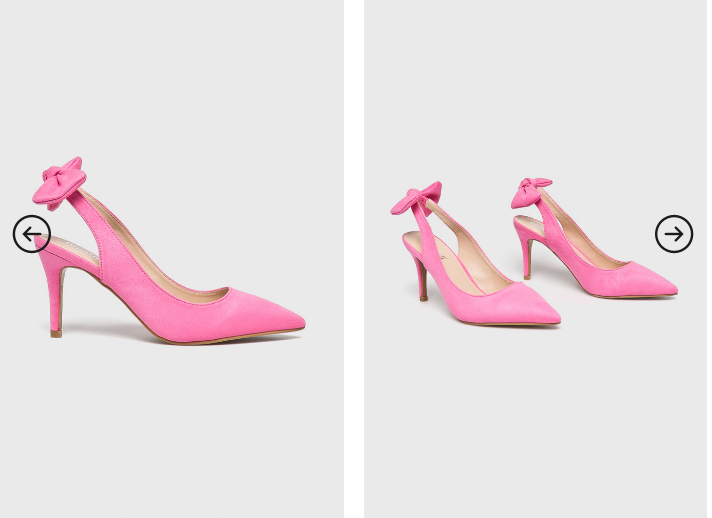 Answear - Pantofi cu toc mic roz cu decupaj si fundita la spate elganti