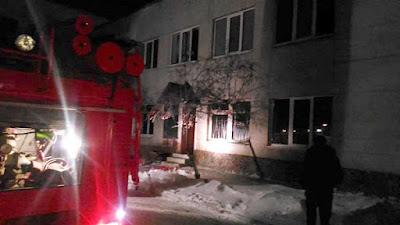 (ФОТО) Пожар в Сухоложской школе искусств