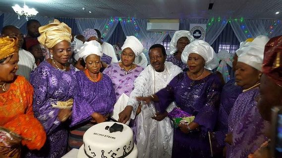 Legendary King Sunny Ade Finally Shows Off His Seven (7) Beautiful Wives At His Birthday Party Yesterday [Photo]