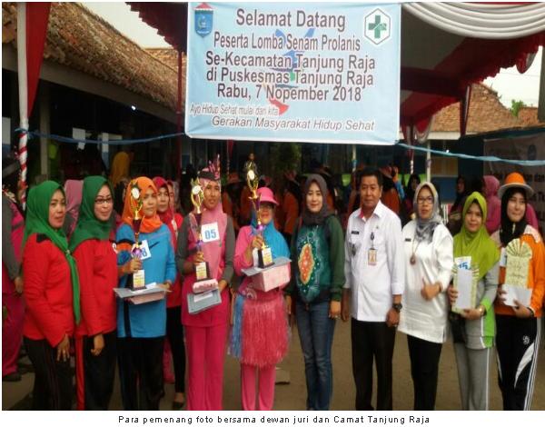Talang Balai Baru, Juara Lomba Senam Germas Prolanis Kecamatan Tanjung Raja Ogan Ilir