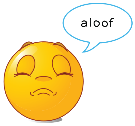 Aloof Smiley - Facebook Symbols and Chat Emoticons - dixinary