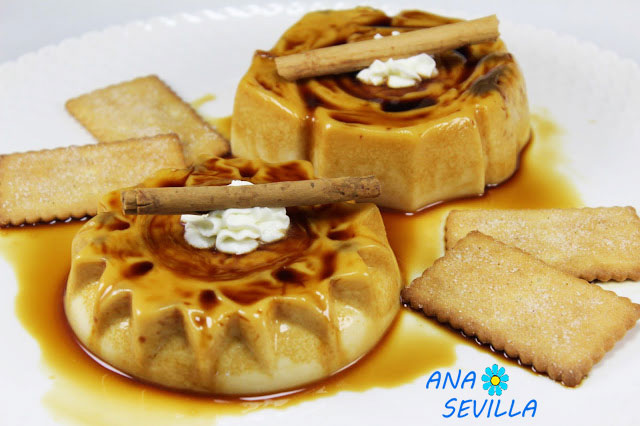 Flan de galletas de canela Thermomix