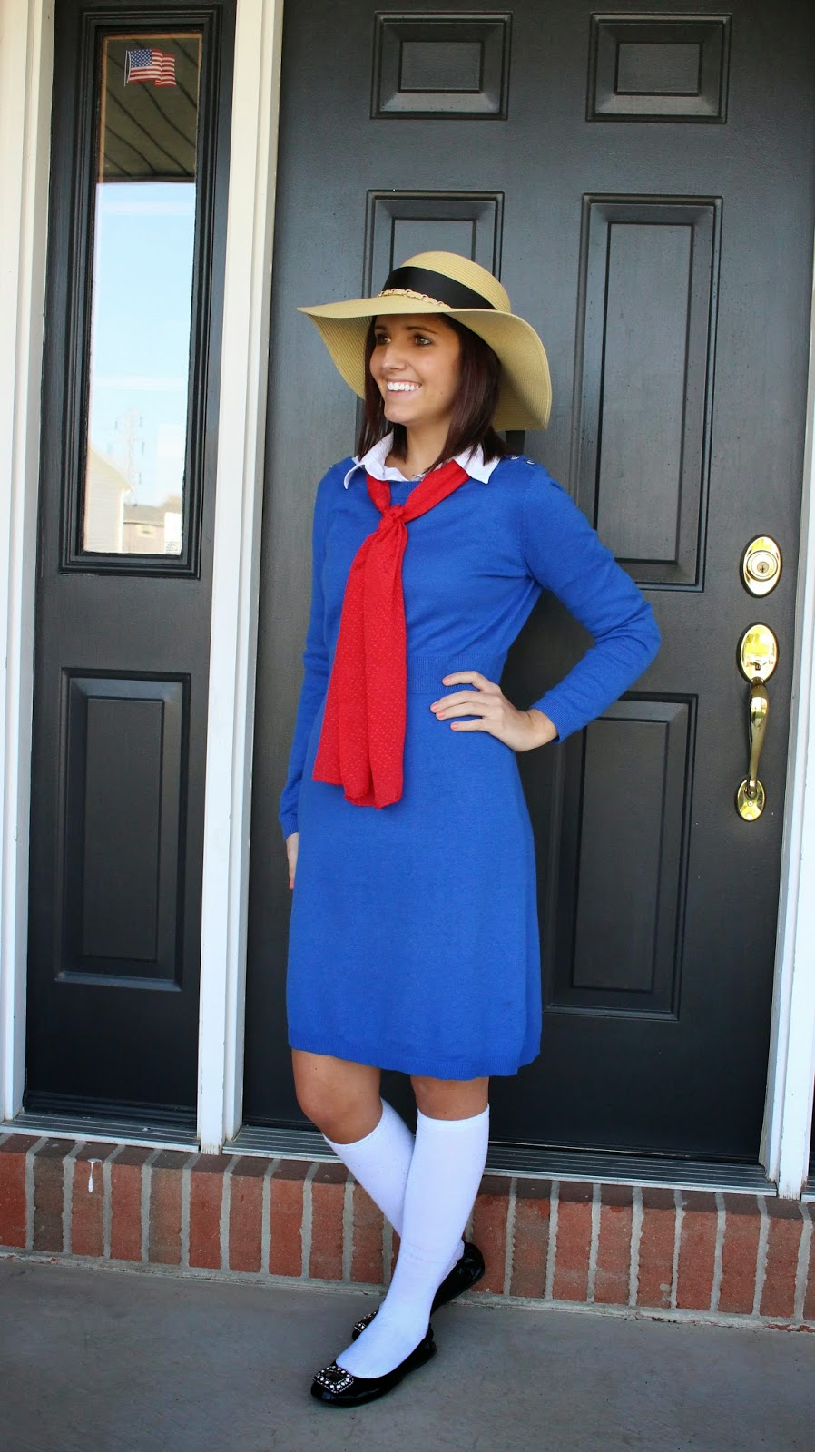 Madeline u2013 source  sc 1 st  Simple Made Pretty & 30 Last Minute Halloween Costume Ideas Using a Blue Dress - Simple ...