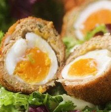Sausage-wrapped Soft Boiled Egg (Scotch Egg)