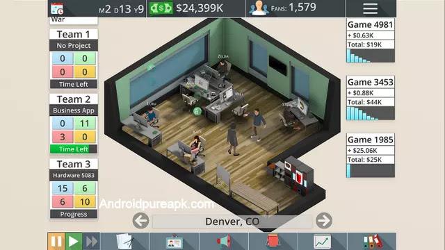 Game Studio Tycoon 3 Mod Apk