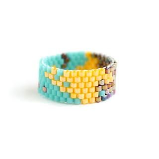 авторские уникальные кольца купить в интернет магазине авторской бижутерии из бисера рф