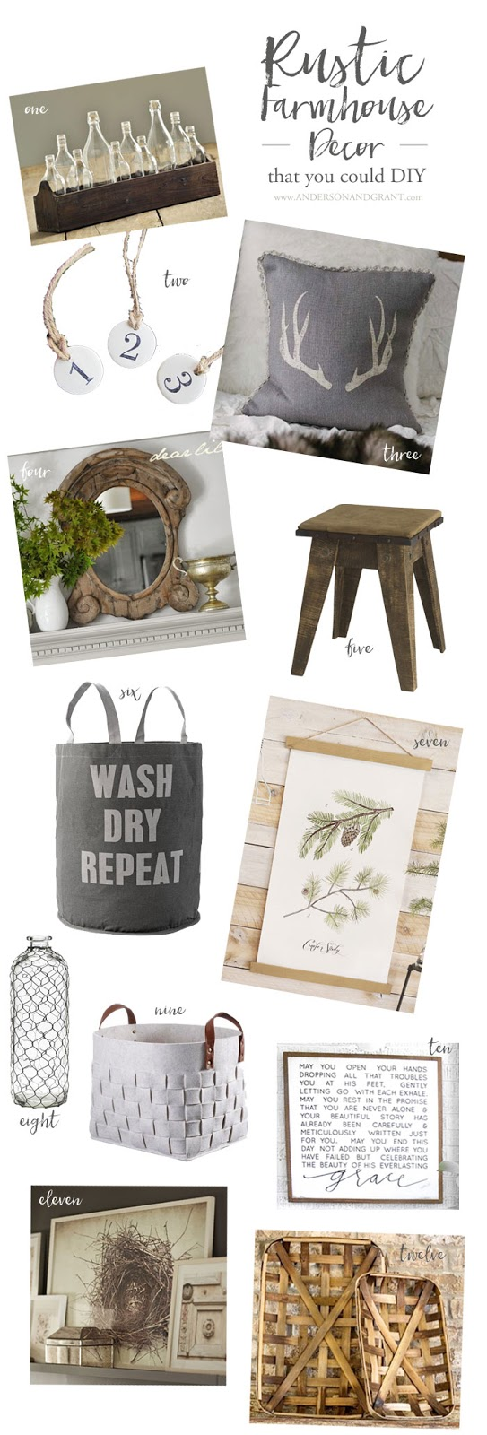 12 Rustic Industrial Products to buy or use as DIY Ideas for your home.  ||  www.andersonandgrant.com