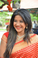 Sakshi Agarwal  in Orange Saree at Inauguration of Handloom And Handicraft exhibition ~  Exclusive 40.JPG