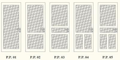 SINAR OMEGA Aluminium: Model Daun Pintu Aluminium