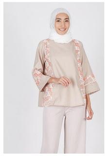 Baju batik muslim modern kombinasi