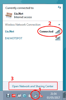 Membuka-Open-Network-and-Sharing-Center-di-komputer-server