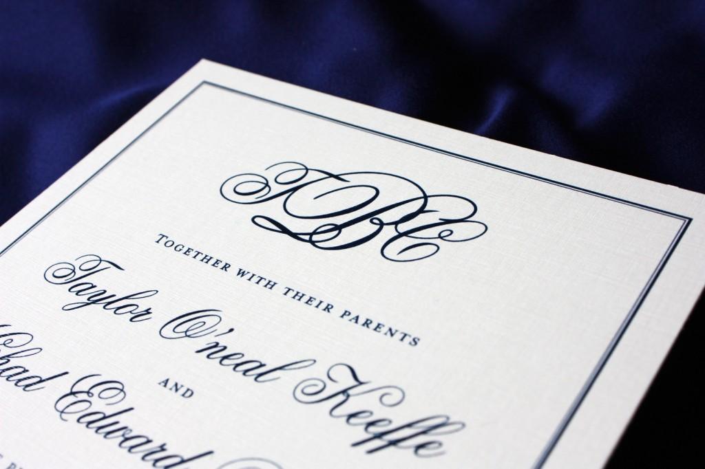 Initial Wedding Invitations: Monogram Wedding Invitations