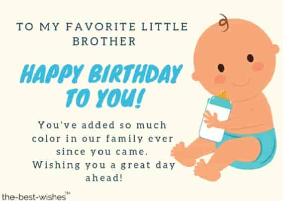happy birthday wishes for little brother
