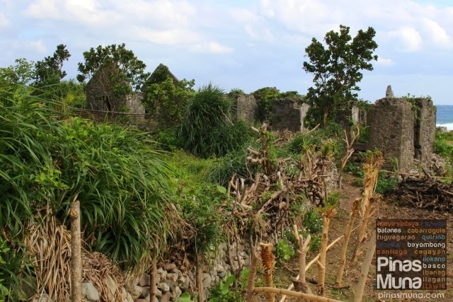 Vegetable Gardens in between Stone House Ruins in Song-Song, Uyugan, Batanes