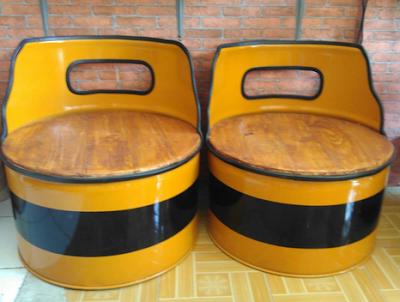 kursi cantik dari drum