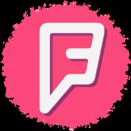 foursquare social button