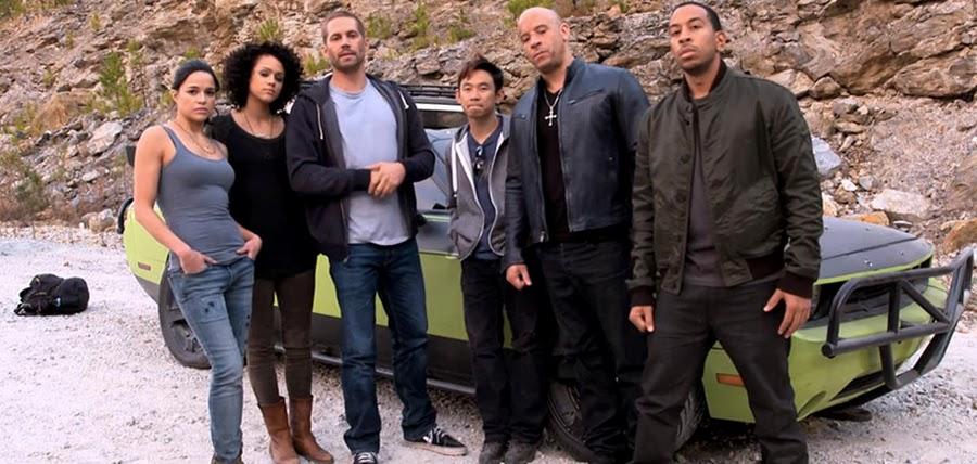 Distribuţia din Fast And Furious 7 pe platourile de filmare