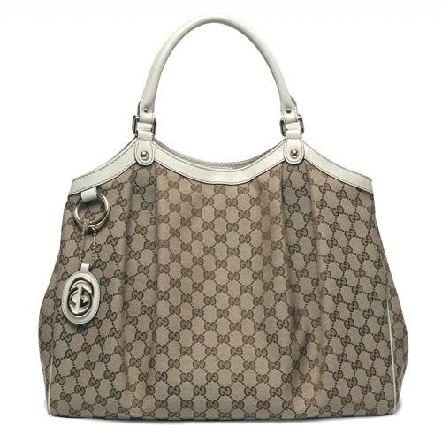 e01ad85dee0 bellaladystore  Gucci 211943 Sukey Cream Large Tote Handbag