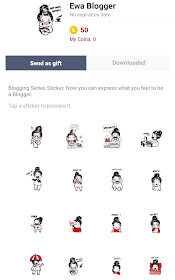Line Sticker Ewa Blogger
