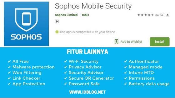 antivirus android terbaik Sophos Mobile Security
