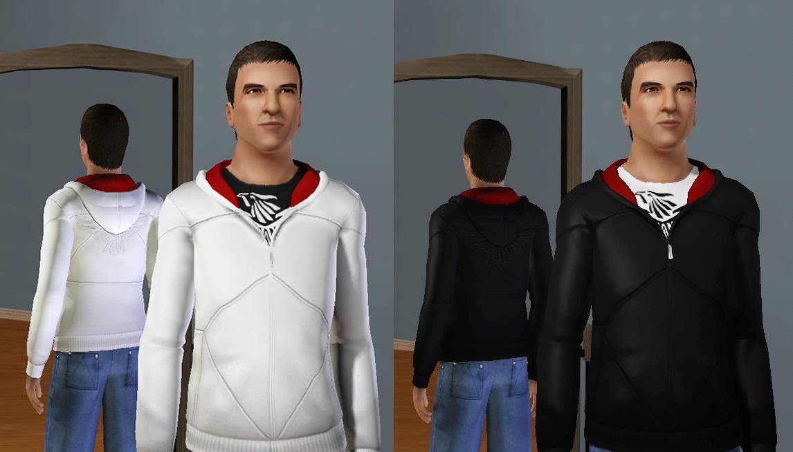 My Sims 3 Blog: Desmond's Hoodie (Assassin's Creed Hoodie