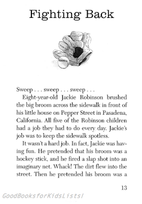 sample page #2 from JACKIE ROBINSON: Young Sports Trailblazer by Herb Dunn