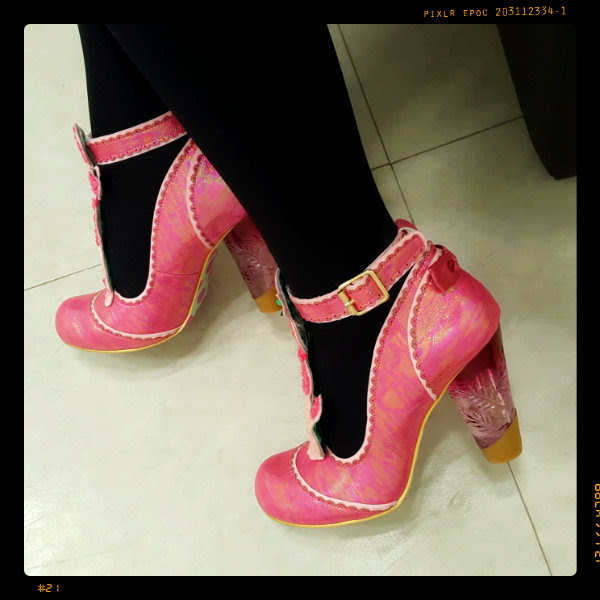 irregular choice pink pretty poodle