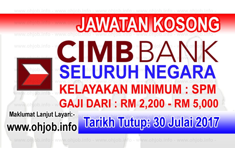 Jawatan Kerja Kosong CIMB Bank logo www.ohjob.info julai 2017