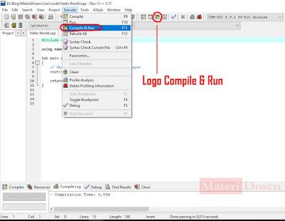 Melakukan Compile & Run Program