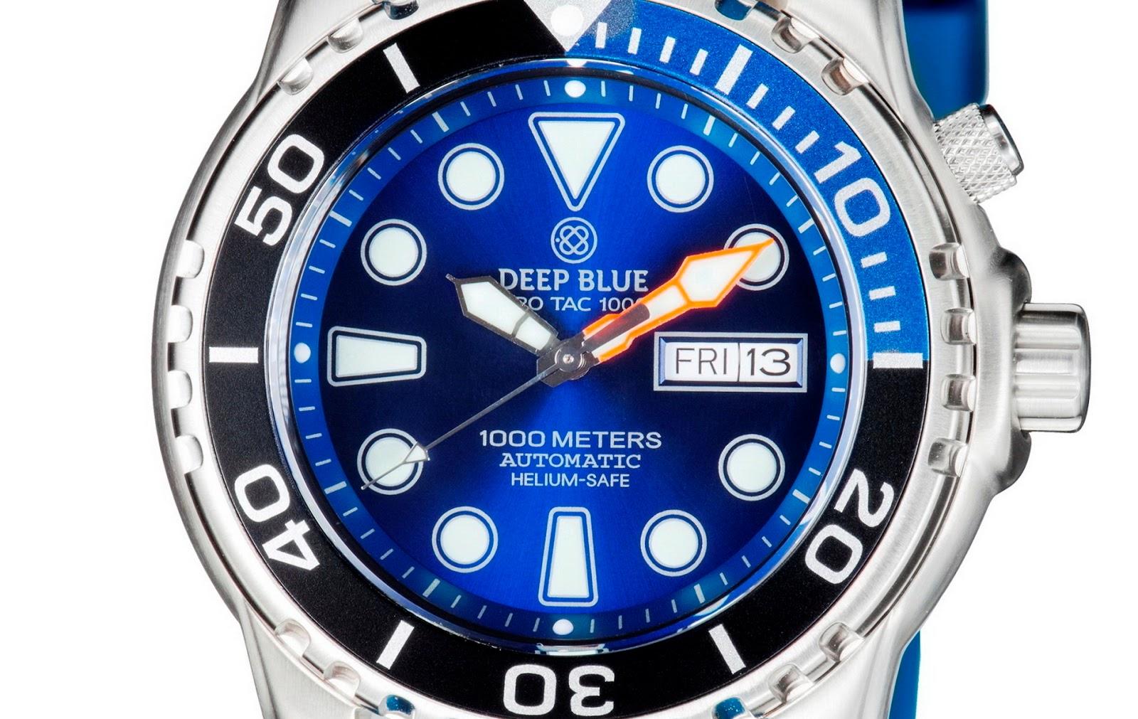 Oceanictime deep blue watches pro tac 1000m auto diver - Dive deep blue ...