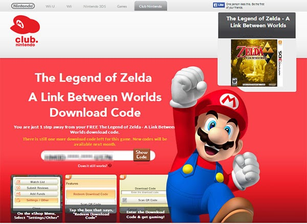 Madison : Free game codes for 3ds