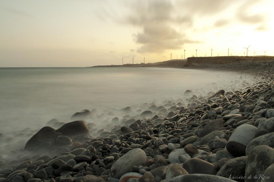 Costa del municipio de Granadilla donde se construye acualmente el makro puerto de Granadilla