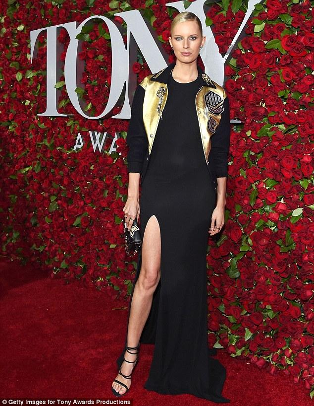 Karolina Kurkova flaunts legs at the 2016 Tony Awards in LA