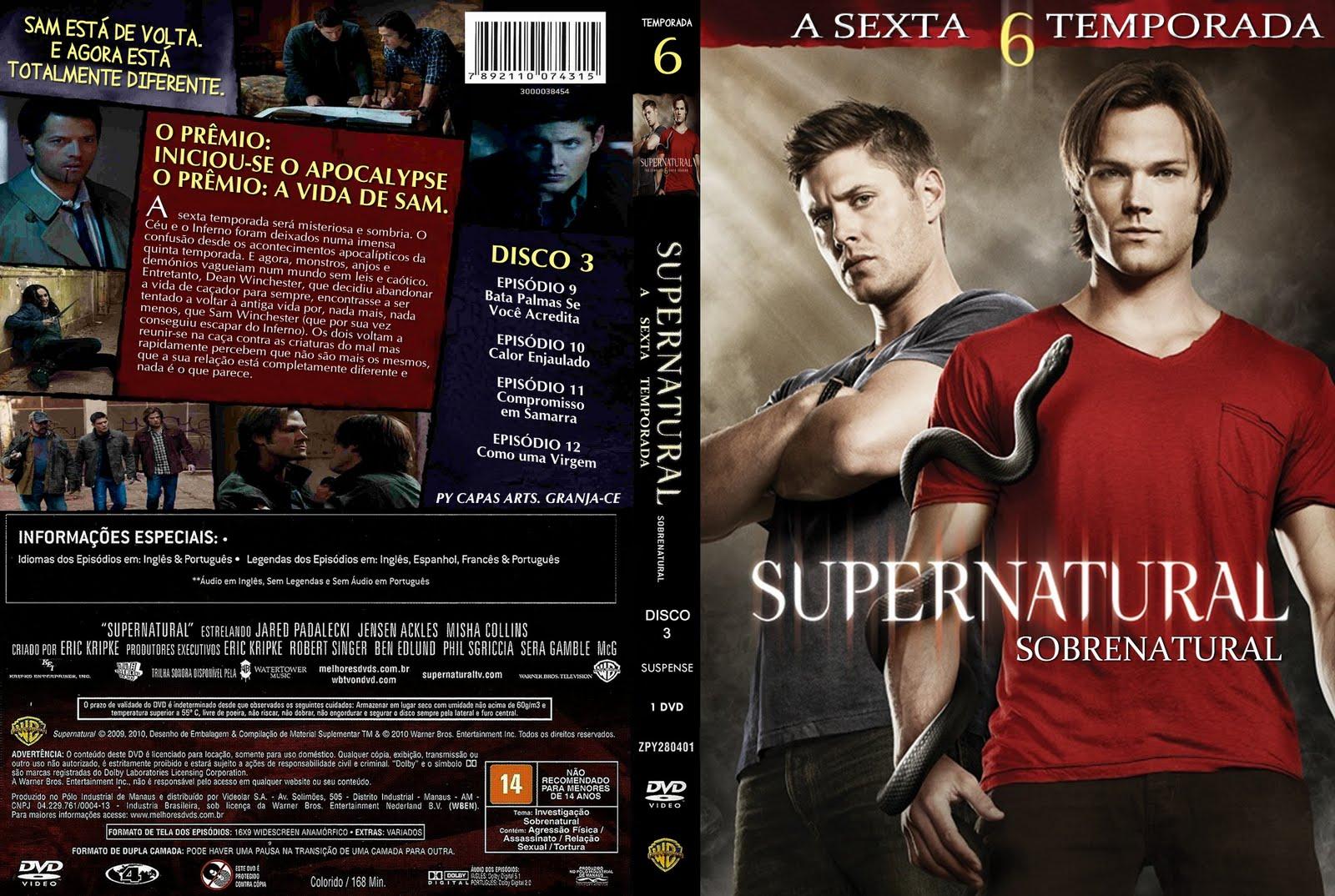 Poder torrent: supernatural 6° temporada dublado torrent 720p.