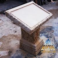 meja prasasti batu putih/batu paras jogja