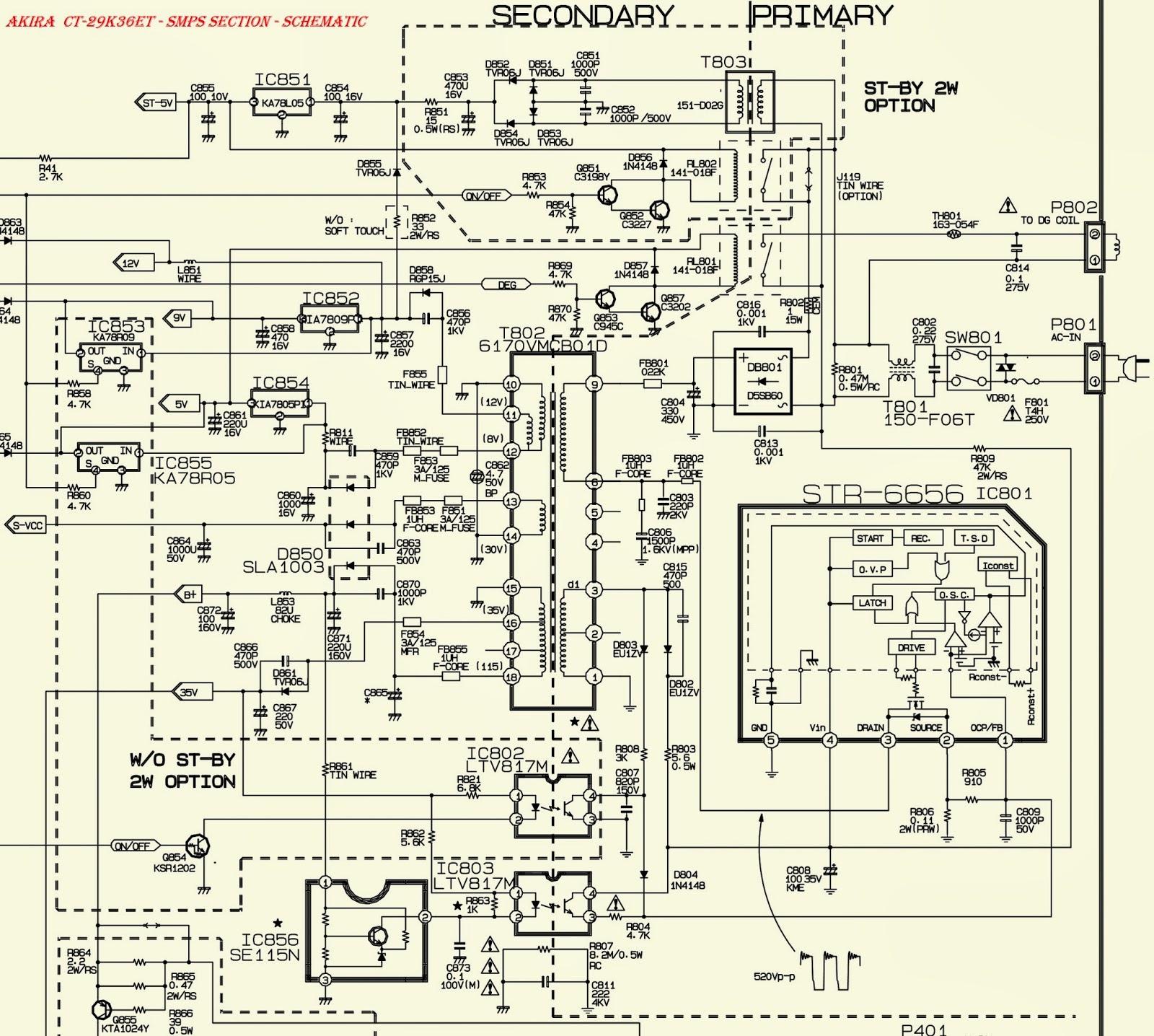LG & AKIRA - CT-29K36ET- SMPS (Power Supply) - AUDIO OUTPUT