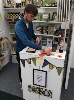 Harry's Hand Made journal demo The Handmade Fair, Ragley Hall, 2018