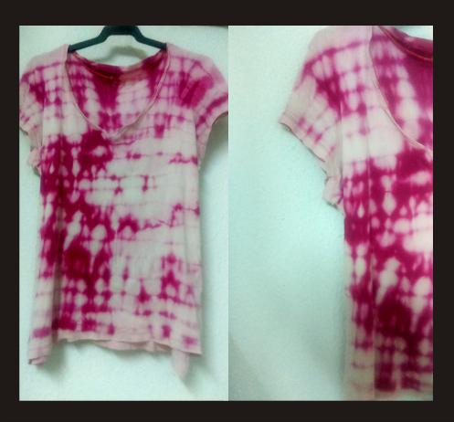 Camiseta reciclada con lejía